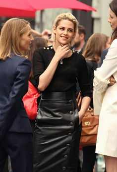 Jodi Foster, Kristen Stewart and Caitriona Balfe at the Cannes Film Festival - May 2016 Dragonfly In Amber, Caitriona Balfe, Cannes Film Festival, Kristen Stewart, The Fosters, Leather Skirt, Portrait, Crocheted Slippers, Skirts