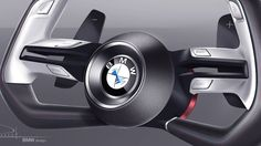 BMW announced that it will unveil two new concept cars during Monterey Car Week next month. Image credit BMW BMW released this image with the press release… Car Interior Sketch, Car Interior Design, Interior Design Sketches, Automotive Design, Auto Design, Web Design, Bmw Concept Car, Solar Car, Bike News