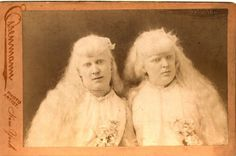 Florence and Mary Martin, 19th century albinos.