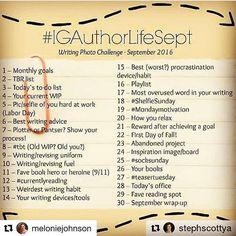 Can I possibly have time for this? #igauthorlifesept #igauthors september instagram