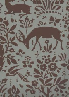 Woodland Grey Toile Wallpaper