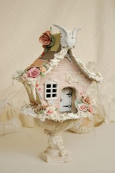 free diy whimsical cardboard bird cages - Google Search