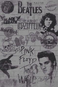 black sabbath, elvis presley, kiss, led zeppelin, pink floyd, rolling stones, the doors, gund n roses