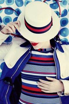 You searched for label/outfits - Keiko Lynn Motifs Textiles, Happy Memorial Day, Love Hat, Derby, Nautical Fashion, Red White Blue, Just In Case, Fashion Photography, Vintage Fashion