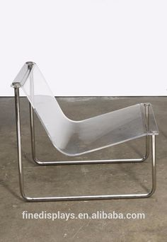 Reform Kitchen / chair inspiration / Design / interior / Home / Decor / Modern / Charles Hollis Jones; Acrylic and Chromed Metal 'Airstream' Sling Chair for CHJ Designs, Acrylic Chair, Acrylic Furniture, Glass Furniture, Home Decor Furniture, Cool Furniture, Vintage Furniture Design, Handmade Furniture, Futuristic Interior, Loft Interiors