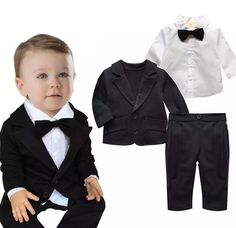 2016 new spring autumn children clothing set of clothes babies boy 3pcs set for baby birther day suit