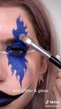 Creepy Halloween Makeup, Amazing Halloween Makeup, Scary Makeup, Makeup Eyes, Face Makeup Art, Amazing Makeup, Fashing Make Up, Creative Makeup Looks, Special Effects Makeup