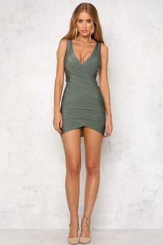 HelloMolly   Desire Is Hunger Dress Olive - Back In Stock - Most Loved
