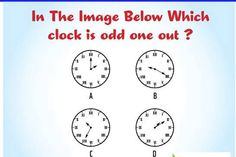 Find the Odd one Clock, Game, Rolodex, Watch, Venison, Games, Clocks