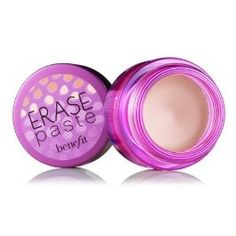 erase paste : Benefit Cosmetics. Pink toned concealer for brightening under eyes and hiding dark circles. Works like a charm!