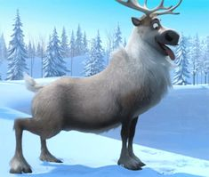 Sven...sit boy....mmm...ooh well good reindeer..