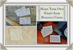 Knick of Time: Grain Sack Business Cards & Price Tags