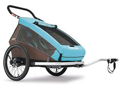 2016 Croozer Kid Plus for 2  3 in 1 Two Child Trailer Sky Blue  Brown -- Find out more about the great product at the image link. (This is an affiliate link) #BikeChildSeats
