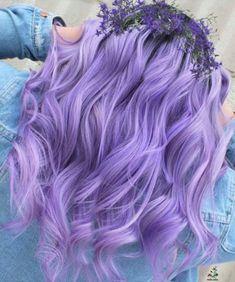 Hair Color Purple, Hair Dye Colors, Cool Hair Color, Green Hair, Pastel Purple Hair, Light Purple Hair Dye, Lavender Hair Colors, Purple Hair Styles, Light Colored Hair