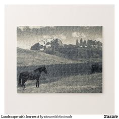 Landscape with horses 2 jigsaw puzzle Make Your Own Puzzle, Custom Gift Boxes, Sticker Shop, Chipboard, Big Picture, High Quality Images, Jigsaw Puzzles, National Parks, Vibrant