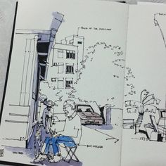 Temankan pakcik...  #johorsketchers #klsketchnation #urbansketching #usk #urbansketchers | por Hafizal_Nordin