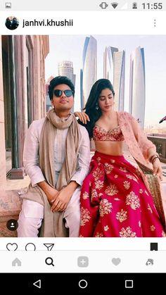 Janhvi Kapoor in Sabyasachi red Lehenga Lehenga Reception, Red Wedding Lehenga, Wedding Lehenga Designs, Red Lehenga, Indian Lehenga, Big Indian Wedding, Indian Wedding Outfits, Pakistani Outfits, Indian Outfits