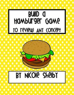 Build a Hamburger Game to Review ANY Concept