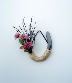 Decorated Pink Roses Horseshoe Wedding Decor by DreamersGifts, $25.00