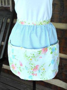 Clothespin apron egg apron farmgirl apron by LittleCabinStitchery