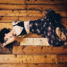 """For @dollskill by the @livesandlevels - Unif riff plaid chiffon skirt x vegan leather YRU ballet bae shoe tings ❤️"""