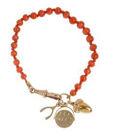 Coral Charm Bracelet, Annina Vogel - Liberty of London Charm Jewelry, Wire Jewelry, Beaded Jewelry, Jewelery, Silver Jewelry, Beaded Bracelets, Necklaces, Liberty Jewellery, Jewelry Accessories