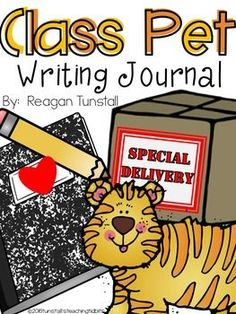 This whole class writing project is a take home journal about the new class pet- a stuffed animal!  A fun way to build classroom community and practice writing.  Students take home the stuffed animal and write about their adventures together in a writing journal, writing notebook, writing book.  Great for morning meetings, sharing time, show and tell, homework, take home activities, and class engagement.  Perfect for kinder, first, and second grade.  Read more at…