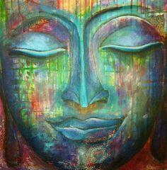 """You only lose what you cling to."" ― Buddha art by Whitney Freya Buddha Kunst, Buddha Zen, Gautama Buddha, Buddha Artwork, Buddha Painting, Yoga Studio Design, Mandala, Buddhist Prayer, Taoism"