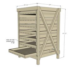Food Storage Shelf--free plans! I bet it could be modified a bit and made mostly with pallets.