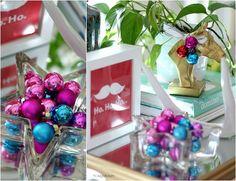 Ho.Ho.Ho. art is a framed Target napkin | Christmas at Our House