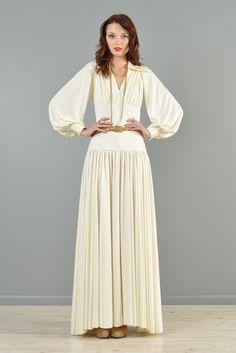 Estevez 1970s Draped Goddess Gown | BUSTOWN MODERN