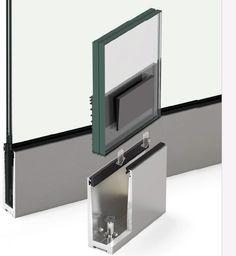 Resultado de imagen para perfil para barandilla de cristal