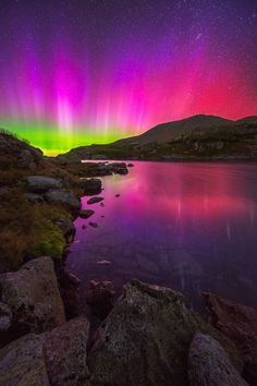 mstrkrftz: The Lake of the Clouds and Aurora fading at the White Mountain National Forest in Mount Washington, New Hampshire
