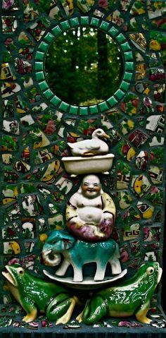 mosaic mirror by Jane Kelly, JK Mosaics