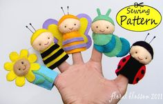 Garden Friends Felt Finger Puppets