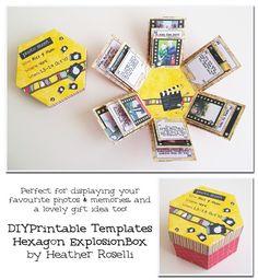 A Hexagon Explosion Box. Cute idea