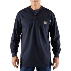 b5d5c984614f Carhartt Men s Force Flame Resistant Henley Long Sleeve Shirt