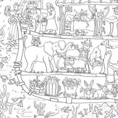 Colouring In Poster Noahs Ark