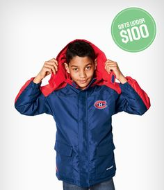 For the face-off-fanatic: NHL fans can cheer for their team and stay warm this winter with the NHL Boys My Team Parka. Canada Shopping, Face Off, Online Furniture, Stay Warm, Nhl, Parka, Cheer, Wonderland, Rain Jacket