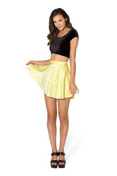 Wallpaper Lemon Skater Skirt - LIMITED › Black Milk Clothing