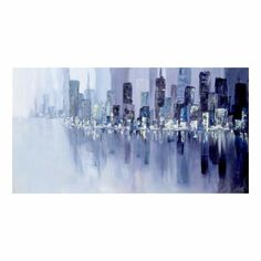 Framed Hand Painted Cityscape Oil Painting on Canvas Abstract Wall Art Home Decoration Wall Decor Hanging