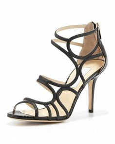 Summit+Glittered+Strappy+Sandal+by+Jimmy+Choo+at+Neiman+Marcus.