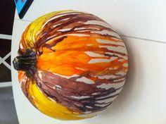 Melted crayon pumpkin!!!