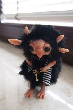 OOAK fantasy art doll- fae fairy- little forest troll gnome TZEMO by MUYESTILLO