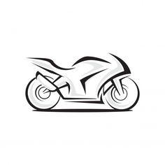 Мотоцикл векторный логотип Премиум Векто... | Premium Vector #Freepik #vector #logo #lines #motorcycle #bike