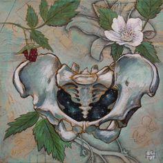 THE UNIVERSE WITHIN-female pelvis,anatomy,celestial,cosmos,birth,Original mixed…