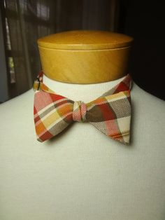 Self-Tie Bowtie Plaid by BowMeAwayByAlexandra on Etsy