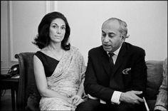 Zulfiqar Ali Bhutto with Nusrat Bhutto
