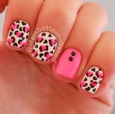 Animal print hearts, Instagram pic by @lifeisbetterpolished