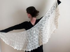 Looking for knitting project inspiration? Check out Wrapped in white by member Stacey Trock.